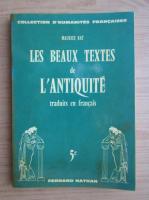 Anticariat: Maurice Rat - Les beaux textes de l'antiquite (volumul 5)