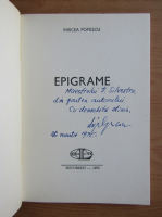 Mircea Popescu - Epigrame (cu autograful si dedicatia autorului)