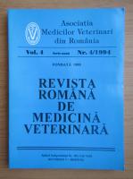 Anticariat: Revista Romana de Medicina Veterinara, volumul 4, nr. 4, 1994