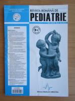Anticariat: Revista Romana de Pediatrie, volumul LXIII, nr. 4, 2014