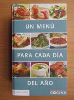Anticariat: Un menu para cada dia del ano