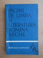 Anticariat: Boris Cazacu - Pagini de limba si literatura romana veche