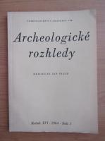 Anticariat: Rediguje Jan Filip - Archeologicke rozhledy. XVI, nr. 3, 1964
