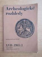 Anticariat: Rediguje Jan Filip - Archeologicke rozhledy. XVII, nr. 1, 1965