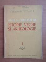 Anticariat: Studii si cercetari de istorie veche si arheologie, tomul 33, nr. 1, ianuarie-martie 1982