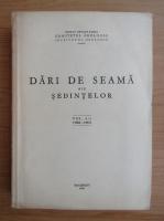 Dari de seama ale sedintelor (volumul 50, partea I)