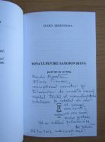 Anticariat: Eugen Serbanescu - Sonata pentru saxofon si Eva (cu autograful autorului)