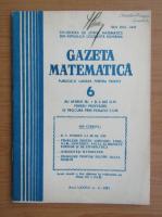 Anticariat: Gazeta matematica, anul LXXXVI, nr. 6, 1981