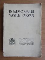 Anticariat: In memoriam lui Vasile Parvan (1934)