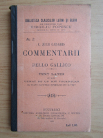 Anticariat: Bello Gallico - C. Julii Caesaris. Comentarii (1898)