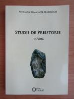 Studii de preistorie, nr. 13, 2016