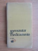 Anticariat: Memorator de medicamente