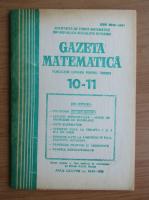 Anticariat: Revista Gazeta Matematica, anul LXXXVIII, nr. 10-11, 1983