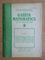 Revista Gazeta Matematica, anul LXXXVIII, nr. 8, 1983