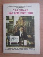 Calendar Luah 5748, 1987-1988