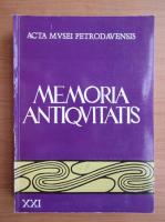 Anticariat: Memoria Antiquitatis (volumul 21)