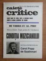 Anticariat: Revista Caiete Critice, nr. 10-11-12 (59-60-61), 1992