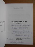Anticariat: Mircea M. Ionescu - Filozofia bascaliei (cu autograful autorului)