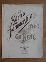 Anticariat: Sarba farmacistilor pentru piano de Gh. Bene (1910)
