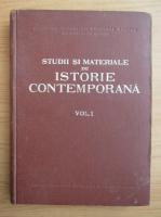 Anticariat: Studii si materiale de istorie contemporana (volumul 1)