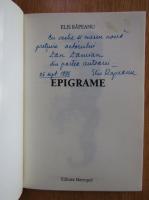 Elis Rapeanu - Epigrame (cu autograful autorului)