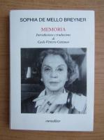 Anticariat: Sophia de Mello Breyner - Memoria