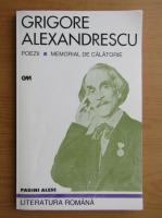 Anticariat: Grigore Alexandrescu - Poezii. Memorial de calatorie