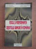 Cosmin Brendea - Riscul si performanta creditului bancar in Romania