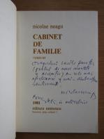 Anticariat: Nicolae Neagu - Cabinet de familie (cu autograful autorului)