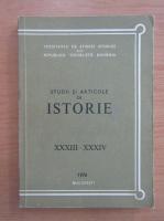 Anticariat: Studii si articole de istorie, nr. 33-34, 1976
