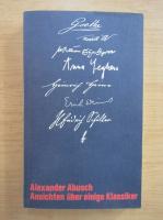 Anticariat: Alexander Abusch - Ansichten uber einige Klassiker