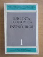 Anticariat: Eficienta economica a investitiilor (volumul 1)