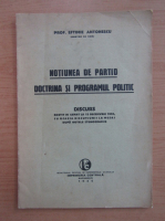 Anticariat: Eftimie Antonescu - Notiunea de partid, doctrina si programul politic