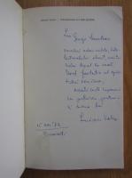 Lucian Valea - Intoarcerea lui Don Quijote (cu autograful autorului)