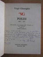 Anticariat: Virgil Gheorghiu - Poezii (cu autograful autorului)