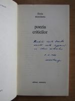 Anticariat: Florin Manolescu - Poezia criticilor (cu autograful autorului)