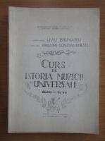 Anticariat: Liviu Brumariu - Curs de istoria muzicii universale 1600-1750