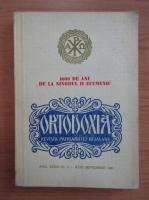 Revista Ortodoxia, anul XXXIII, nr. 3, iulie-septembrie 1981
