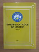 Anticariat: Studii si articole de istorie, LXXXI