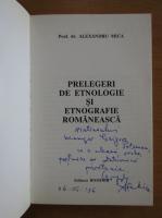 Anticariat: Alexandru Mica - Prelegeri de etnologie si etnografie romaneasca (cu autograful autorului)