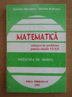 Dumitru Savulescu - Matematica. Culegere de probleme pentru clasele VI-XII