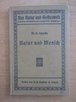 Anticariat: Max Georg Schmidt - Natur und Mensch