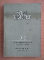Revista Studii teologice, anul XVI, nr. 3-4, martie-aprilie 1964