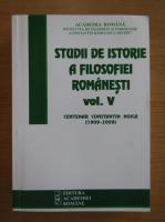 Studii de istorie a filosofiei romanesti (volumul 5)