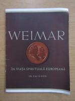 Anticariat: Dr. Smidson - Weimar in viata spirituala europeana