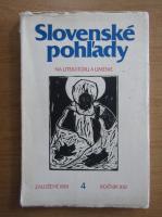 Anticariat: Slovenske pohl'ady. Na literaturu a umenie