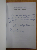 Anticariat: Claudia Cleja Stoicescu - Epilog la o legenda (cu autograful autorului)
