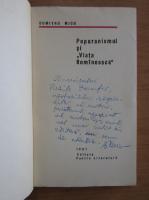 Anticariat: Dumitru Micu - Poporanismul si Viata Romaneasca (cu autograful autorului)