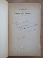 Anticariat: Gabriel Dimisianu - Schite de critica (cu autograful autorului)