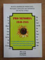 Anticariat: Revista Pro Memoria, nr. 2, iunie 2008